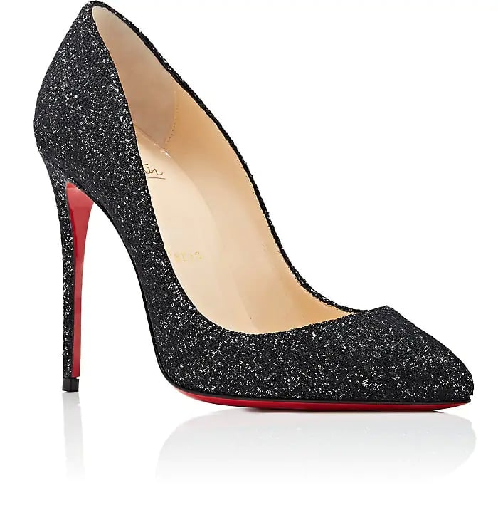 info for deca6 e6113 Christian Louboutin Pigalle Follies Glitter Mesh Pumps ...