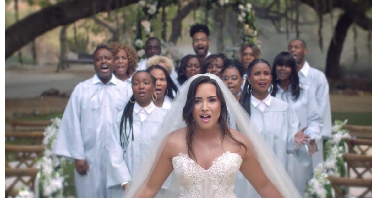 Demi Lovato Wedding Dress In Tell Me You Love Me Video Popsugar Fashion Australia Photo