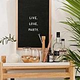 Oak + Felt Letter Board