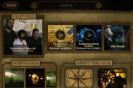 The Hobbit Movie iPhone App