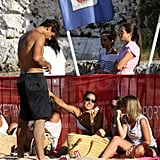 Rafael Nadal and Xisca Perello on the beach.
