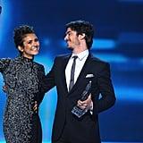 Nina triumphantly held up her award.