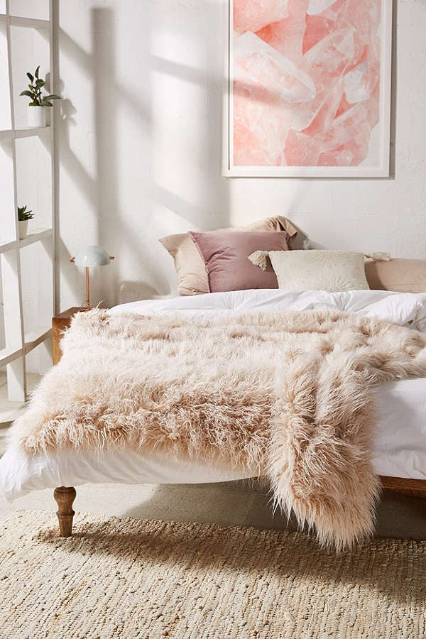 Urban Outfitters Marisa Tipped Faux Fur Throw