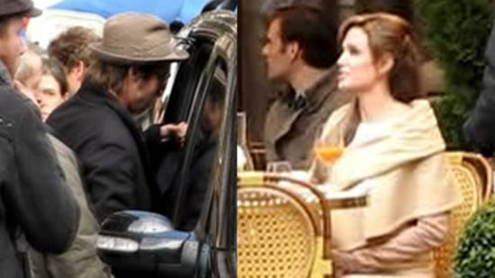 Video of Brad Pitt and Angelina Jolie and Video of Angelina Jolie Filming The Tourist 2010-02-24 00:25:33