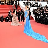 She Let Her Gown Trail Behind Her
