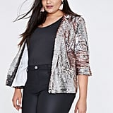 River Island Metallic Sequin Blazer