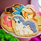 I did end up ordering pony cookies from Elle Couture Cookies, an Etsy shop that does gorgeous work.  I couldn't resist having the actual characters on the cookies. Her cookies were soft, buttery, and the design was stunning.