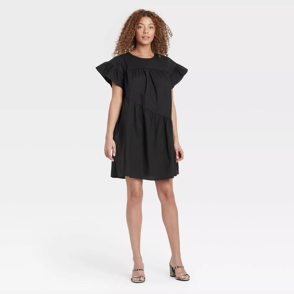 For Playful Drama: Who What Wear Ruffle Short Sleeve Dress