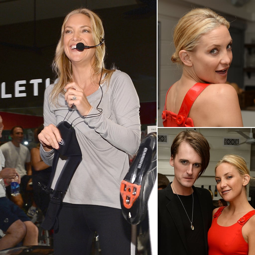 Kate Hudson Pictures: Fabletics Launch, Red Dress At Dinner