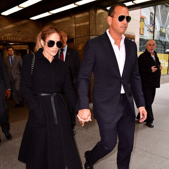 Jennifer Lopez and Alex Rodriguez Wearing All Black 2017