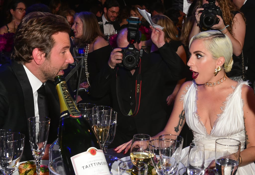 Lady Gaga and Bradley Cooper at the 2019 SAG Awards | POPSUGAR Celebrity