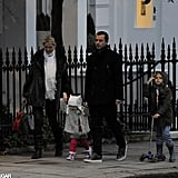 Gavin Rossdale took his son Kingston for a walk.