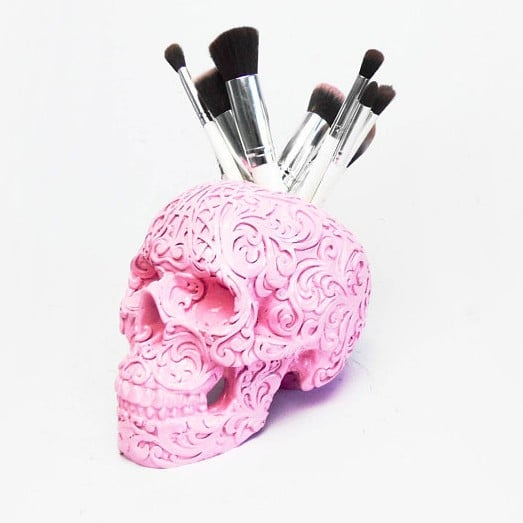 Skull Makeup Brush Holders