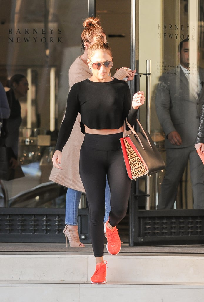 Jennifer Lopez Athleisure Street Style January 2017