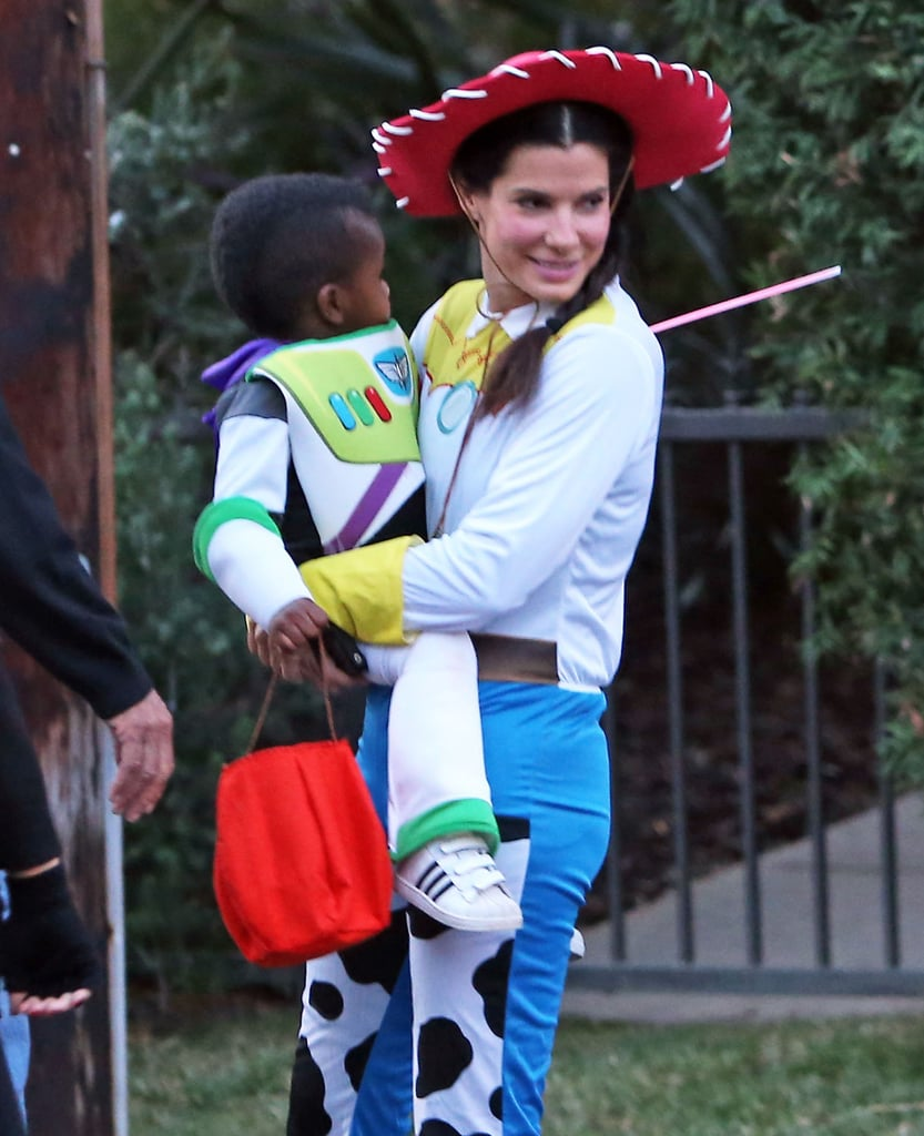 Sandra And Louis Bullock In Toy Story Costumes Pictures Popsugar Celebrity