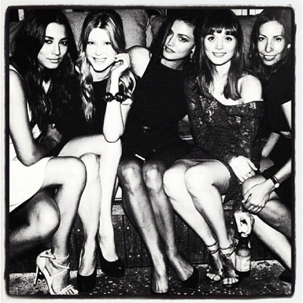 Jessica Gomes, Emma Booth, Phoebe Tonkin, Bella Heathcote and Romy Feldman hung out; looked fashionable at the GQ Awards. Source: Instagram user stylemeromy