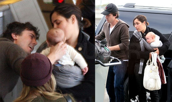 Casey Affleck at LAX With Summer Phoenix and Sons