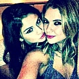Ashley Benson shared a photo of her celebrating with Selena Gomez. Source: Instagram user itsashbenzo