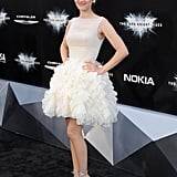 Anne Hathaway in White Dress Dark Knight Rises NYC Premiere