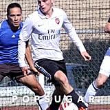 Gregg Sulkin Shirtless Playing Soccer in LA