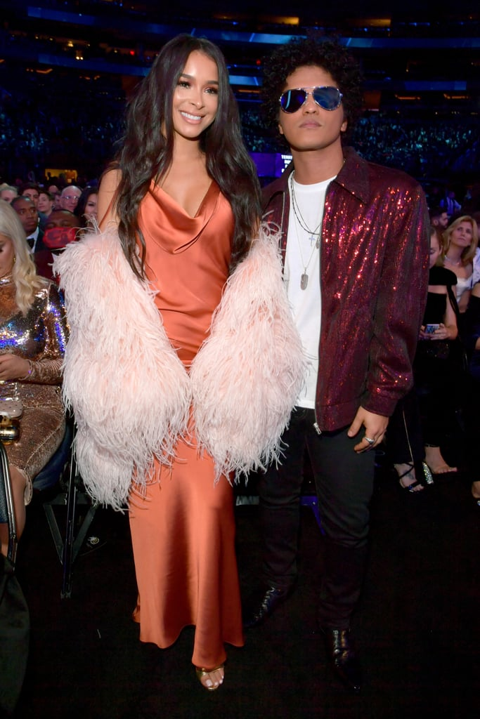 Bruno Mars and Jessica Caban at the 2018 Grammys