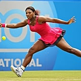 Serena Williams Wearing Hot Pink at the AEGON International in 2011