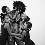 Black-and-White Postpartum Body Photos
