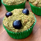 Refined-Sugar-Free Banana Blueberry Spinach Muffins