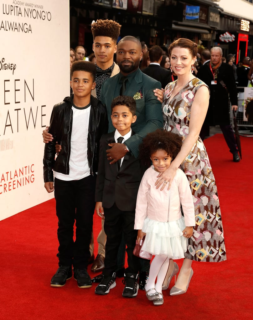 It was family night for David Oyelowo at the screening of Queen of Katwe in London on Sunday. The actor took his wife, Jessica, and their four beautiful children to the star-studded event, which also brought out Lupita Nyong'o and the rest of the film's cast. Just last month, David and his family took matching to a whole new level when they attended the LA premiere of the film, in which David stars as engineer Robert Katende. The Disney movie is based on the life of Phiona Mutesi, a young girl from Uganda training to become a world chess champion, and is in theaters now.