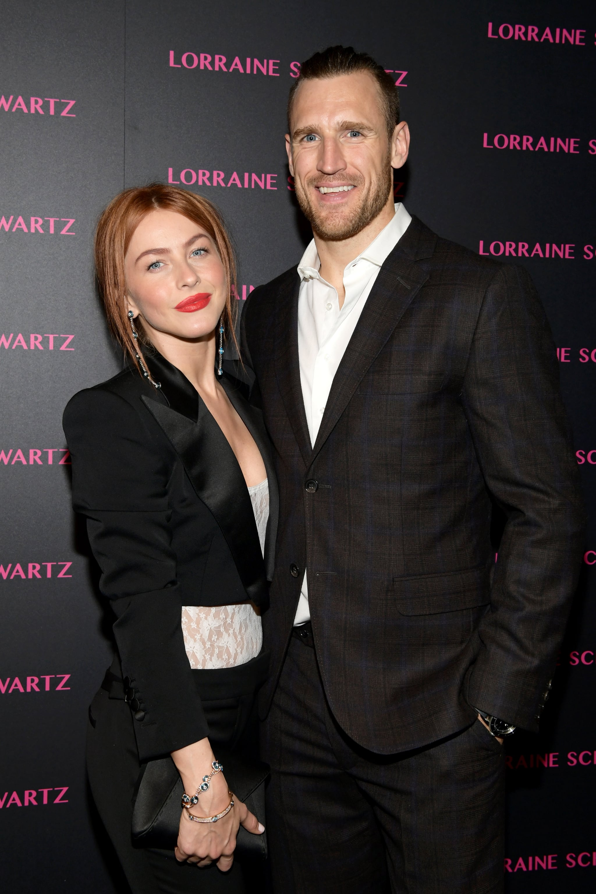 WEST HOLLYWOOD, CA - MARCH 13:  Julianne Hough (L) and Brooks Laich attend Lorraine Schwartz launches The Eye Bangle a new addition to her signature Against Evil Eye Collection at Delilah on March 13, 2018 in West Hollywood, California.  (Photo by Emma McIntyre/Getty Images for Lorraine Schwartz )