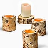 Birch Bark Tea Light Holder