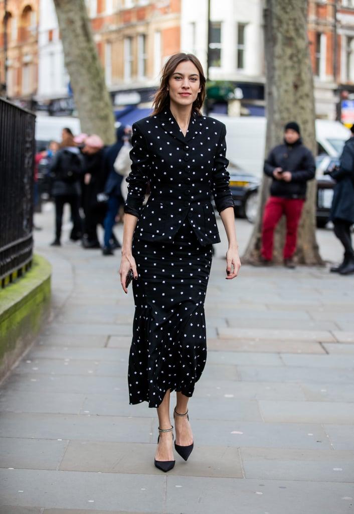 Alexa Chung's Street Style at London Fashion Week