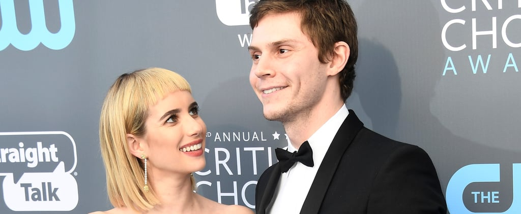 Evan Peters Leaves His Cult Followers at Home For a Red Carpet Date Night With Emma Roberts