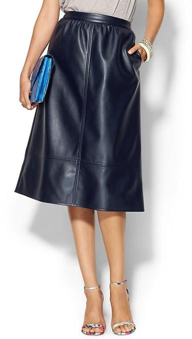Piperlime Collection Vegan Leather Skirt