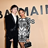 Ross Lynch and Jaz Sinclair at Paris Fashion Week on Jan. 17