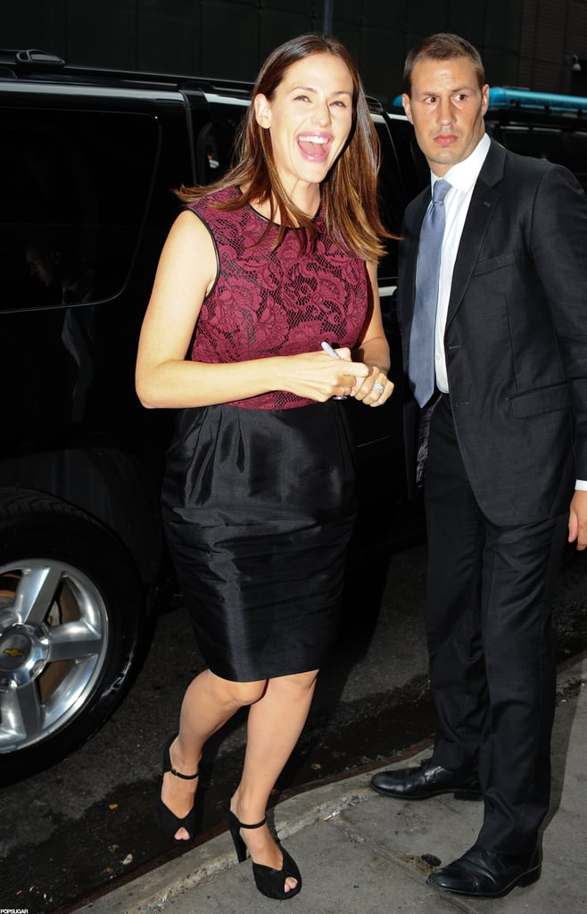 Jennifer Garner smiled in NYC.