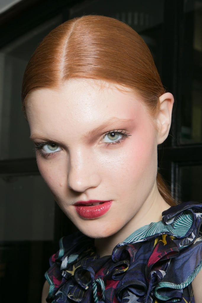 Slicked-Back and Sleek Strands