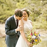 Wildflower Bridal Bouquet and Crown