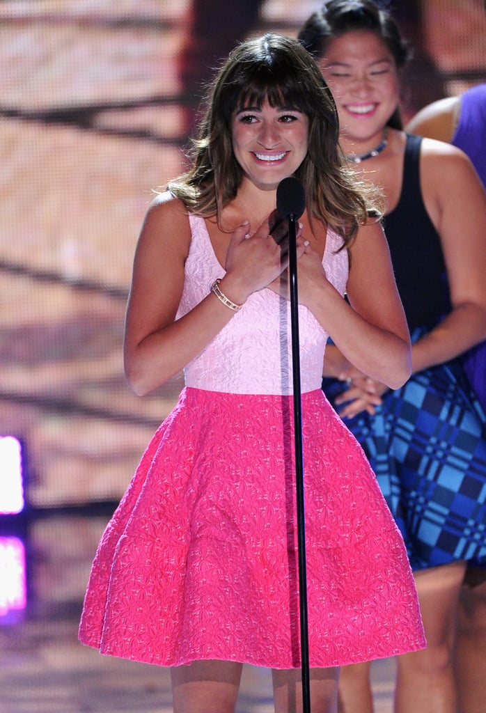 Lea Michele gave an emotional speech honoring her late boyfriend, Cory Monteith, at the Teen Choice Awards in LA. Check out all of the other pictures from the Teen Choice Awards.