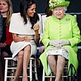 Meghan Laughing With Queen Elizabeth 2018