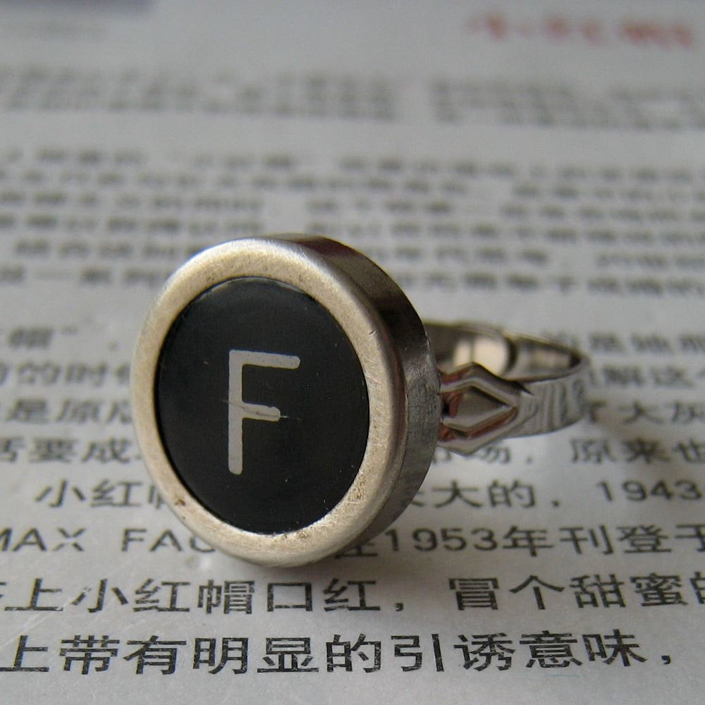 For the literary fashionista, these old school typewriter keys are personal and super cute. Crafted in Belgium, you can choose the initial and adjust the size. Typewriter Key Ring ($14)