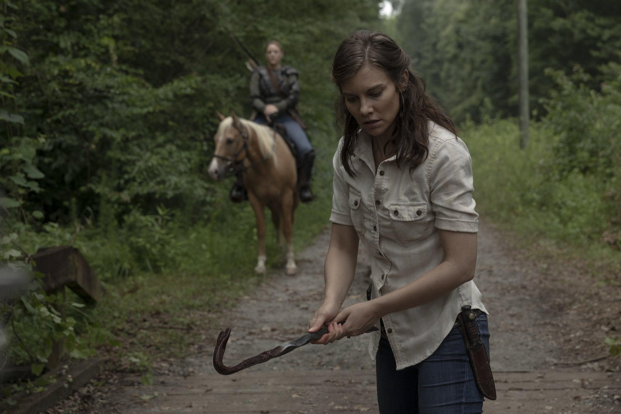 Lauren Cohan as Maggie Rhee, Kerry Cahill as Dianne - The Walking Dead _ Season 9, Episode 5 - Photo Credit: Jackson Lee Davis/AMC