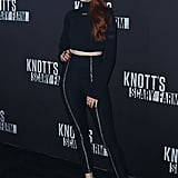 Madelaine Petschat Knott's Scary Farm and Instagram's Celebrity Night in 2017