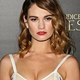 Just Like That, Lily James Makes Lingerie Red Carpet Appropriate