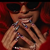 "Cardi B's Nails in ""Backin' It Up"""