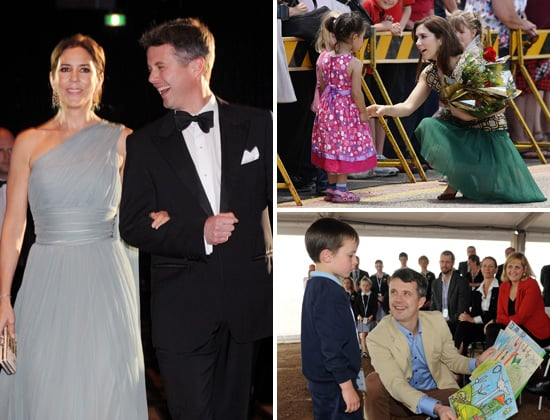 Princess Mary Starry Starry Night Dress Pictures With Prince Frederik in Melbourne