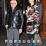 Katy Perry and John Mayer took John's dad to dinner before seeing a musical.
