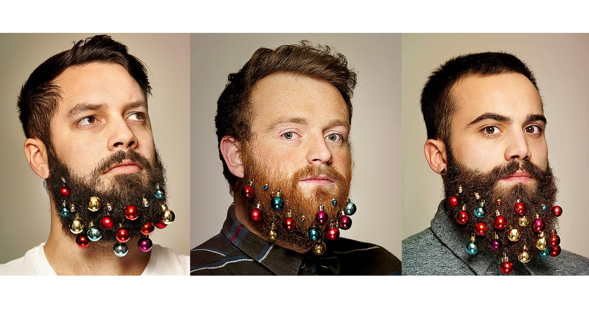 Christmas Decorations In Beard Funny christmas beard decoration