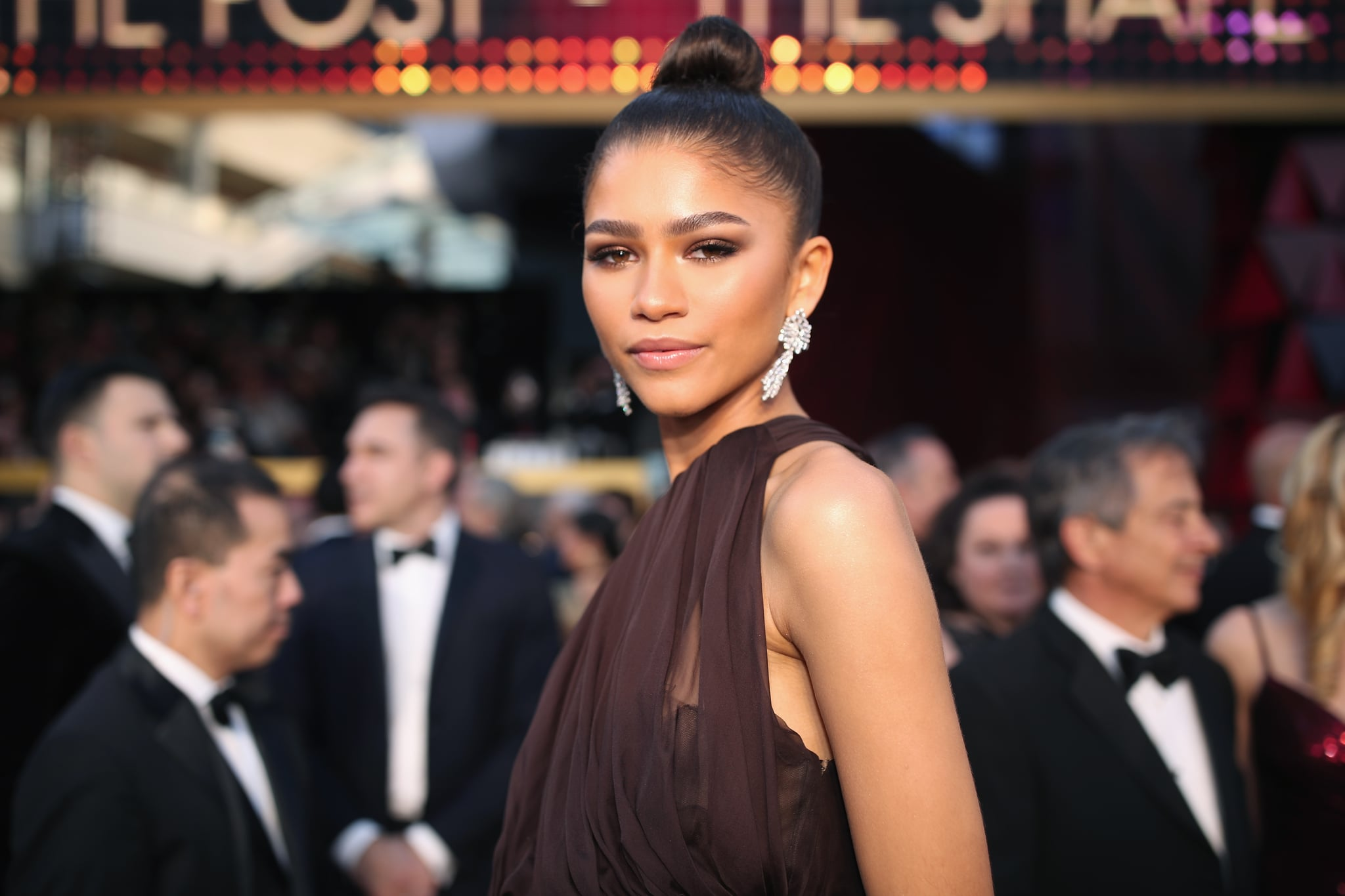 HOLLYWOOD, CA - MARCH 04:  Zendaya, wearing August Getty Atelier, attends the 90th Annual Academy Awards at Hollywood & Highland Centre on March 4, 2018 in Hollywood, California.  (Photo by Christopher Polk/Getty Images)