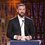 Justin Timberlake at Women in Entertainment Breakfast 2017